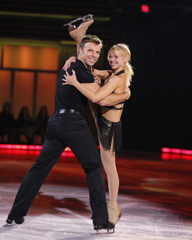 Violetta Afanasieva and P.J. Stock take to the ice to perform for the very first time on Sun., Oct. 3, 2010 on Battle of the Blades, Season 2. Photo courtesy: Insight Productions and CBC.